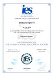 IES certifikát